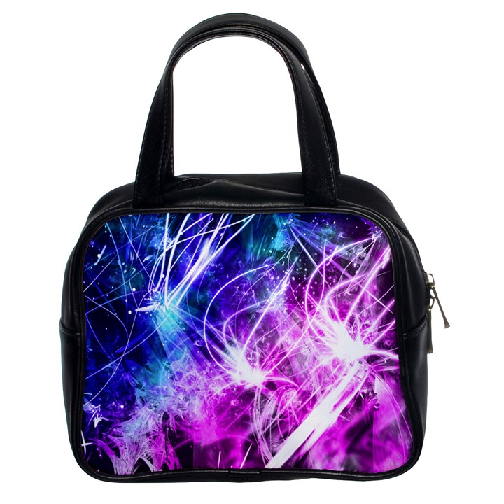 Space Galaxy Purple Blue Classic Handbags (2 Sides)
