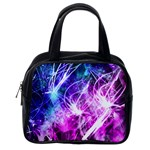 Space Galaxy Purple Blue Classic Handbags (2 Sides) Back