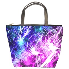 Space Galaxy Purple Blue Bucket Bags by Mariart