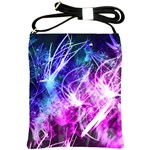 Space Galaxy Purple Blue Shoulder Sling Bags Front