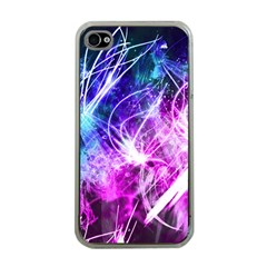 Space Galaxy Purple Blue Apple Iphone 4 Case (clear) by Mariart