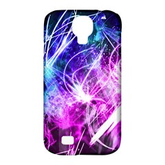 Space Galaxy Purple Blue Samsung Galaxy S4 Classic Hardshell Case (pc+silicone) by Mariart