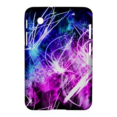 Space Galaxy Purple Blue Samsung Galaxy Tab 2 (7 ) P3100 Hardshell Case  by Mariart