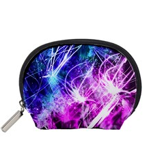 Space Galaxy Purple Blue Accessory Pouches (small)  by Mariart