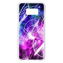 Space Galaxy Purple Blue Samsung Galaxy S8 Plus White Seamless Case by Mariart