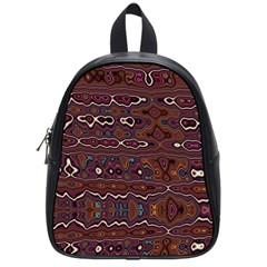 Hippy Boho Chestnut Warped Pattern School Bag (small) by KirstenStar