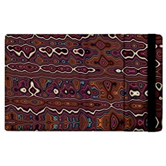 Hippy Boho Chestnut Warped Pattern Apple Ipad 3/4 Flip Case by KirstenStar
