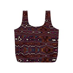 Hippy Boho Chestnut Warped Pattern Full Print Recycle Bags (s)  by KirstenStar