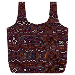 Hippy Boho Chestnut Warped Pattern Full Print Recycle Bags (l)  by KirstenStar