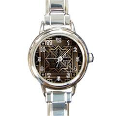 Art Nouveau Round Italian Charm Watch
