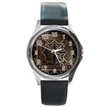 art nouveau Round Metal Watch