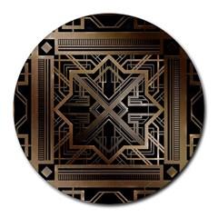 Art Nouveau Round Mousepads by 8fugoso