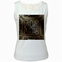 Art Nouveau Women s White Tank Top
