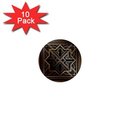 Art Nouveau 1  Mini Buttons (10 Pack)