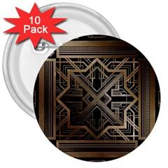 Art Nouveau 3  Buttons (10 Pack)