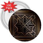 art nouveau 3  Buttons (100 pack)