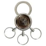 art nouveau 3-Ring Key Chains