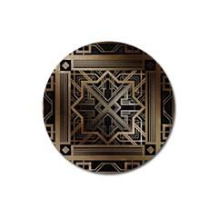 Art Nouveau Magnet 3  (round)