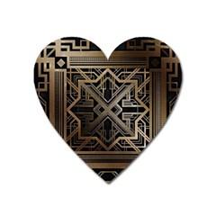 Art Nouveau Heart Magnet