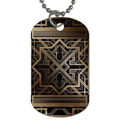 Art Nouveau Dog Tag (one Side)
