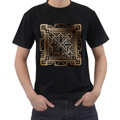 Art Nouveau Men s T Shirt (black) (two Sided)