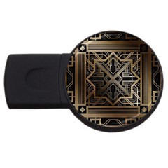 Art Nouveau Usb Flash Drive Round (4 Gb)