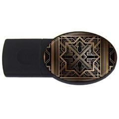 Art Nouveau Usb Flash Drive Oval (4 Gb)
