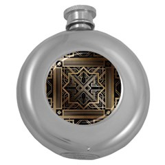 Art Nouveau Round Hip Flask (5 Oz)
