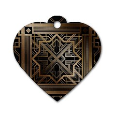 Art Nouveau Dog Tag Heart (two Sides)