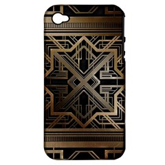 Art Nouveau Apple Iphone 4/4s Hardshell Case (pc+silicone)
