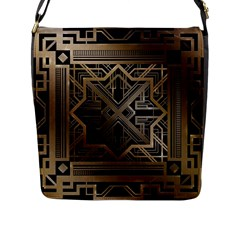 Art Nouveau Flap Messenger Bag (l)