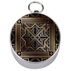 Art Nouveau Silver Compasses