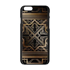 Art Nouveau Apple Iphone 6/6s Black Enamel Case