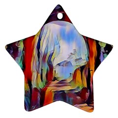 Abstract Tunnel Ornament (star)