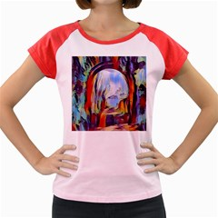 Abstract Tunnel Women s Cap Sleeve T Shirt