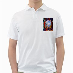 Abstract Tunnel Golf Shirts