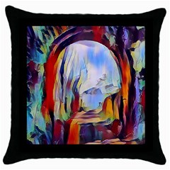 Abstract Tunnel Throw Pillow Case (black)