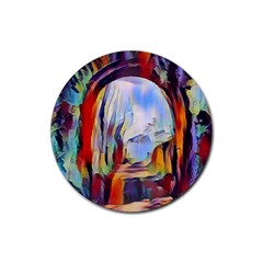 Abstract Tunnel Rubber Round Coaster (4 Pack)