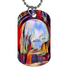 Abstract Tunnel Dog Tag (one Side)