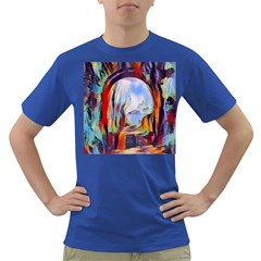 Abstract Tunnel Dark T Shirt