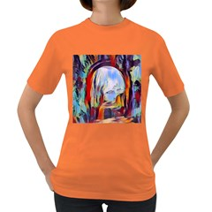 Abstract Tunnel Women s Dark T Shirt
