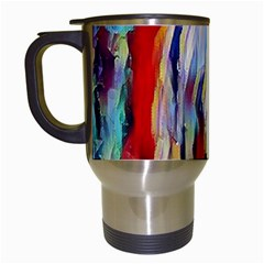 Abstract Tunnel Travel Mugs (white)