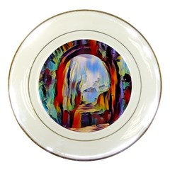 Abstract Tunnel Porcelain Plates by 8fugoso