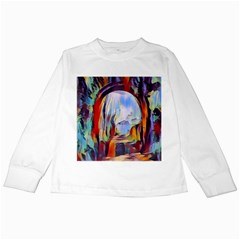 Abstract Tunnel Kids Long Sleeve T Shirts