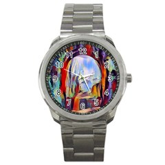 Abstract Tunnel Sport Metal Watch
