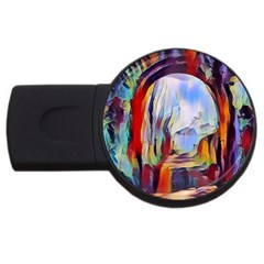 Abstract Tunnel Usb Flash Drive Round (4 Gb)