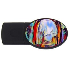 Abstract Tunnel Usb Flash Drive Oval (4 Gb)