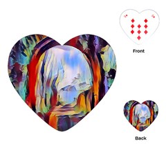 Abstract Tunnel Playing Cards (heart)