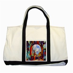 Abstract Tunnel Two Tone Tote Bag