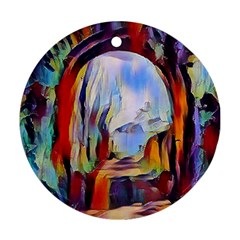 Abstract Tunnel Round Ornament (two Sides)